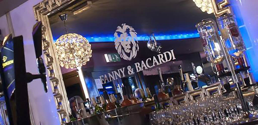 The classy bar area of Fanny and Bacardi