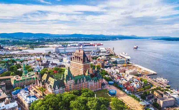 Quebec City Aerial View, Quebec, Canada