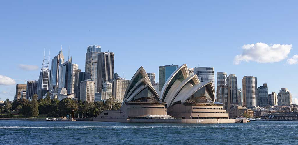 Sydney Australia. Opera House and skyline
