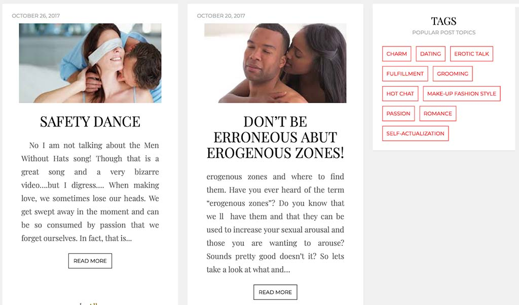 Dating guides are one of the only useful features of the site