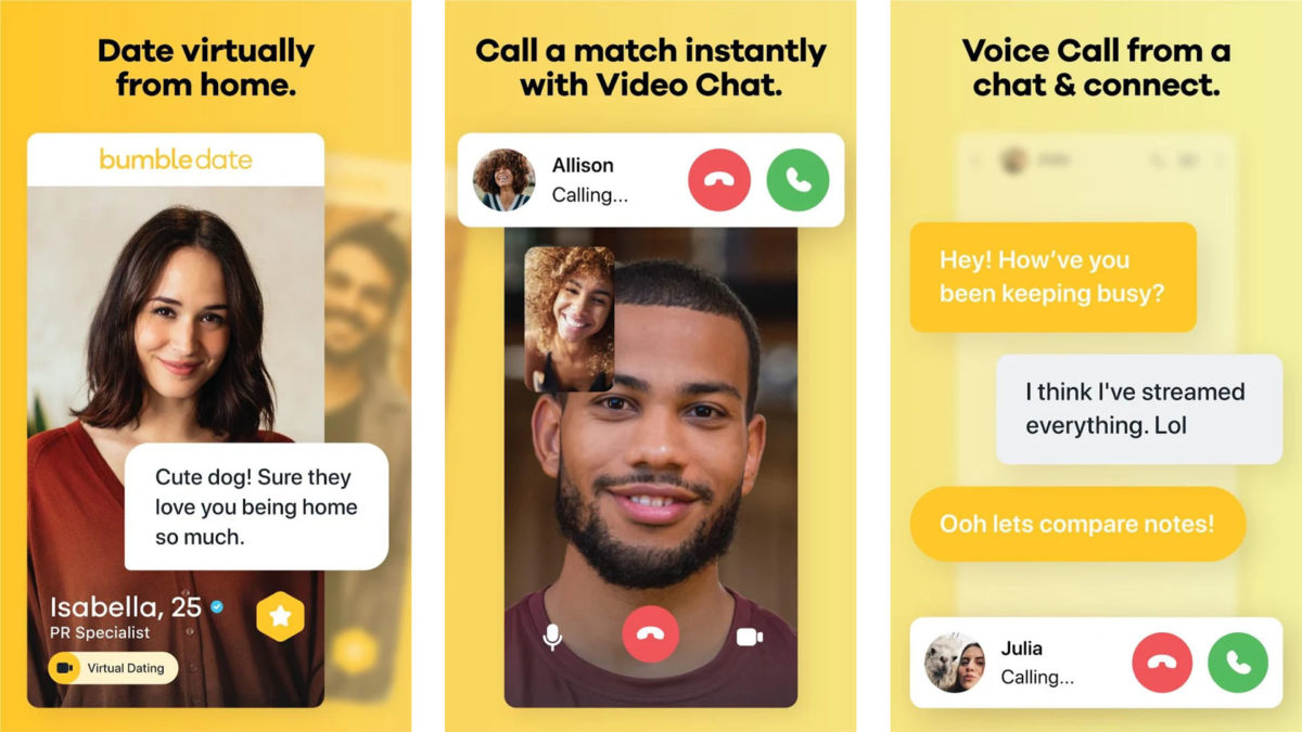 Bumble dating app for women