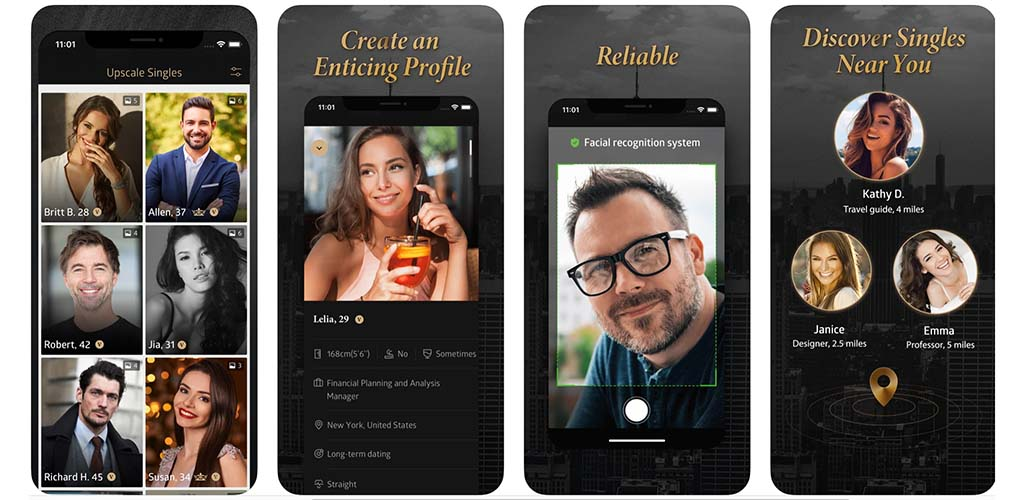 The Luxy app design