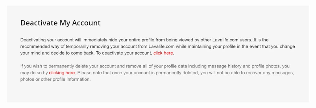 How to deactivate your account