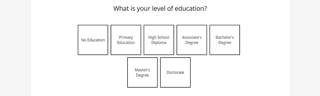 How important is your partner's level of education?