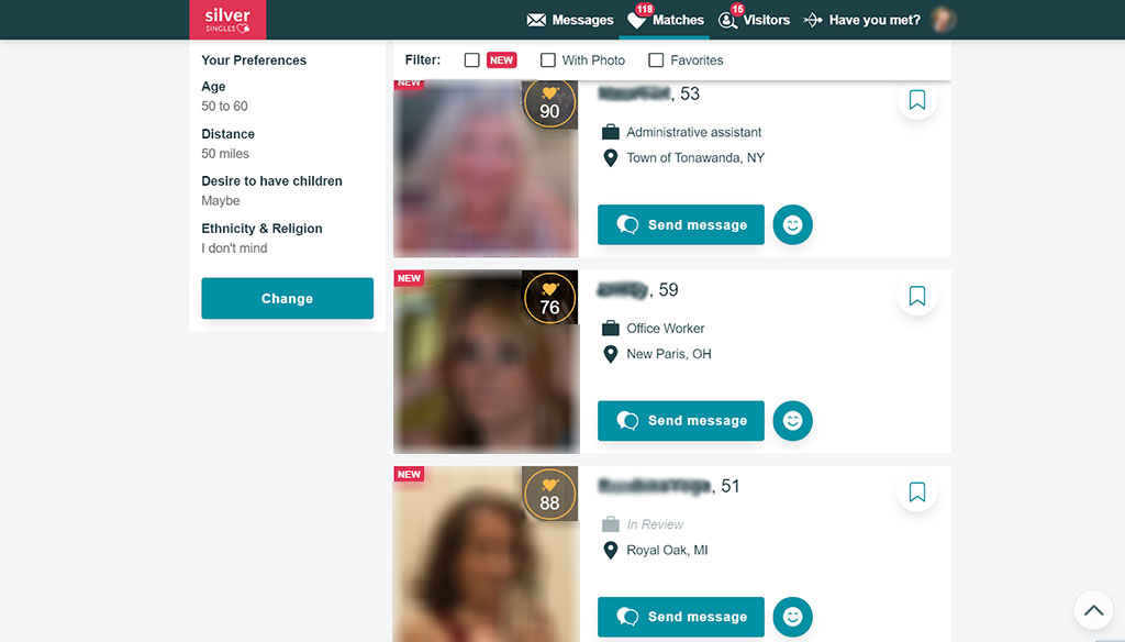 Mature women that you match with