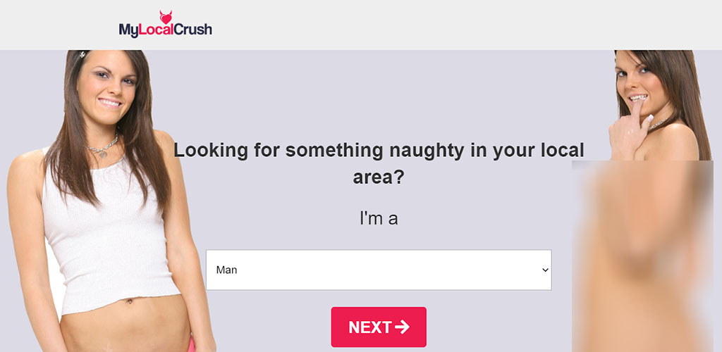 MyLocalCrush review landing page