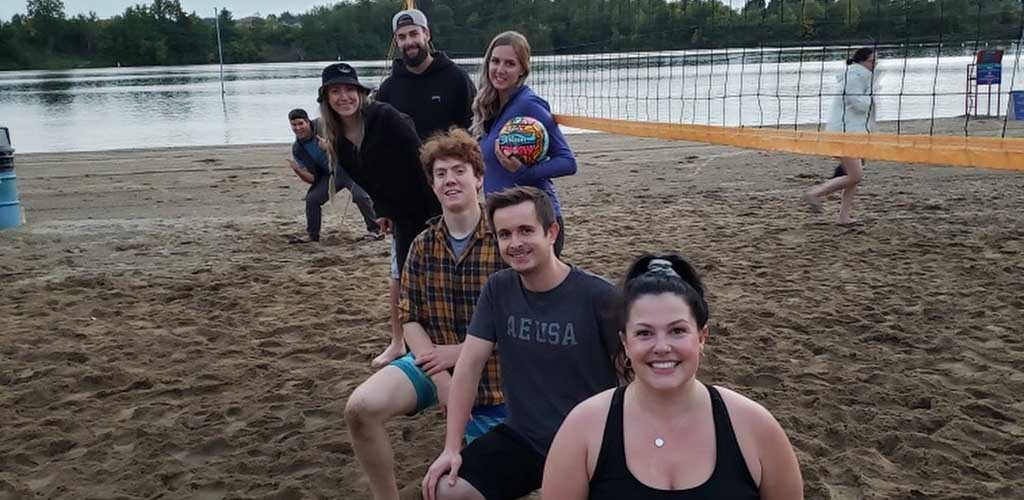 A beach volleyball event at the Ottawa Sport and Social Club