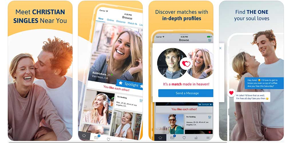 What the Christian Mingle app looks like for Seattle