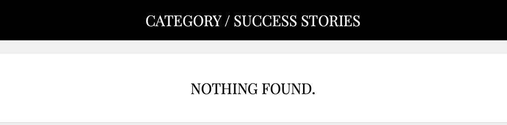 No success stories