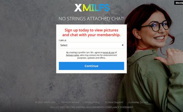 XMilfs landing page