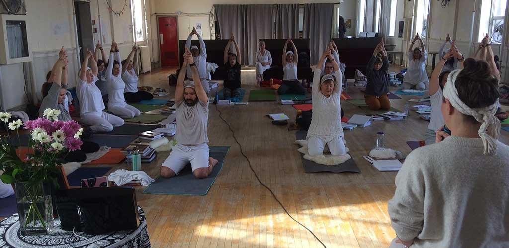 A class at Yoga and Tea Studio