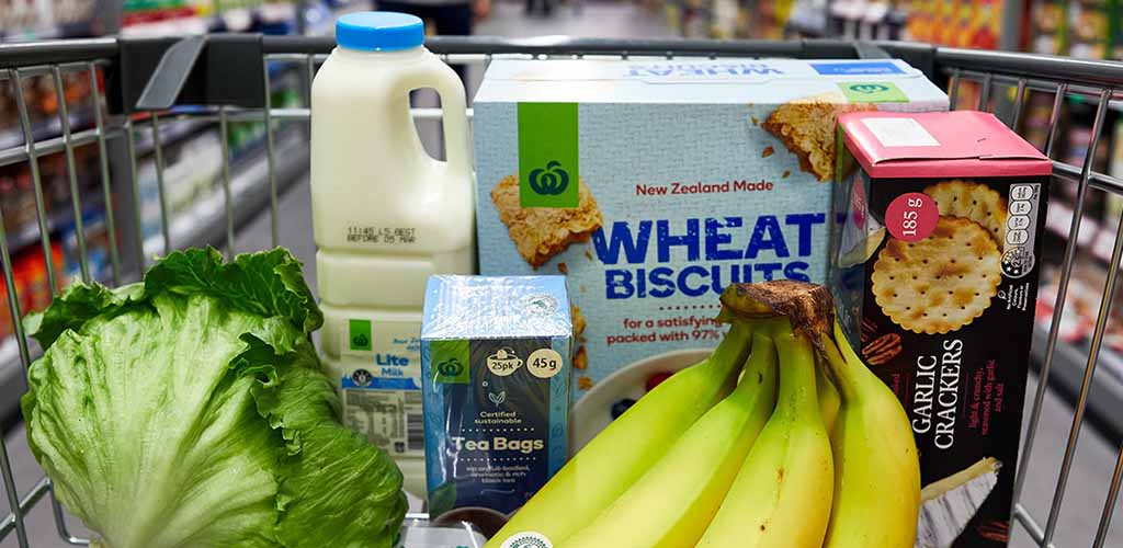 A cart with healthy food from Countdown