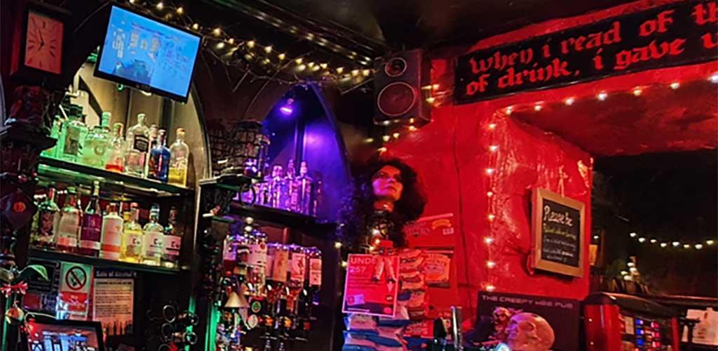 The creepy decor at The Creepy Wee Pub
