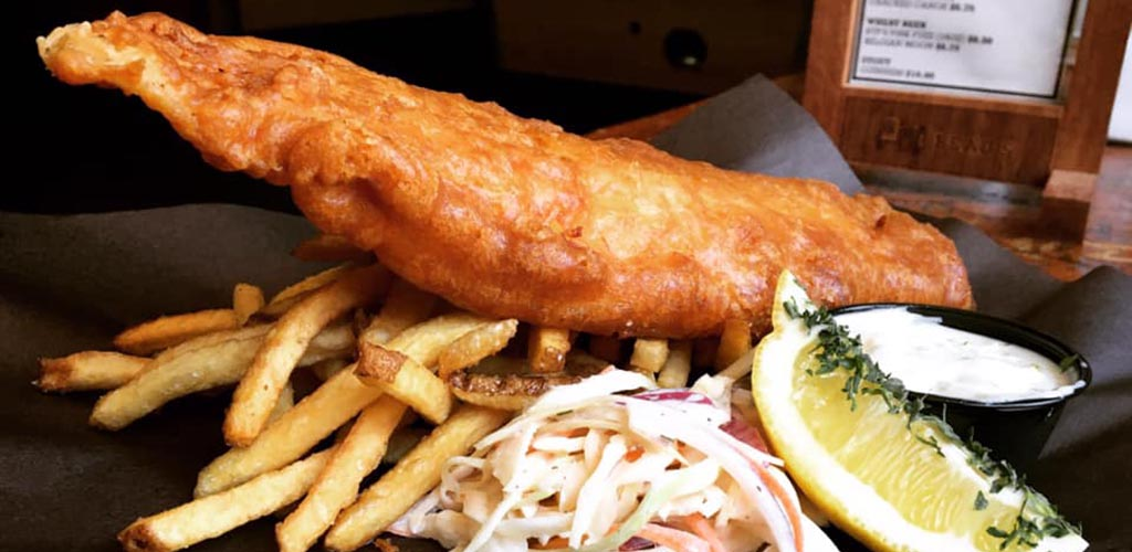 Fish and chips from Irene's Pub