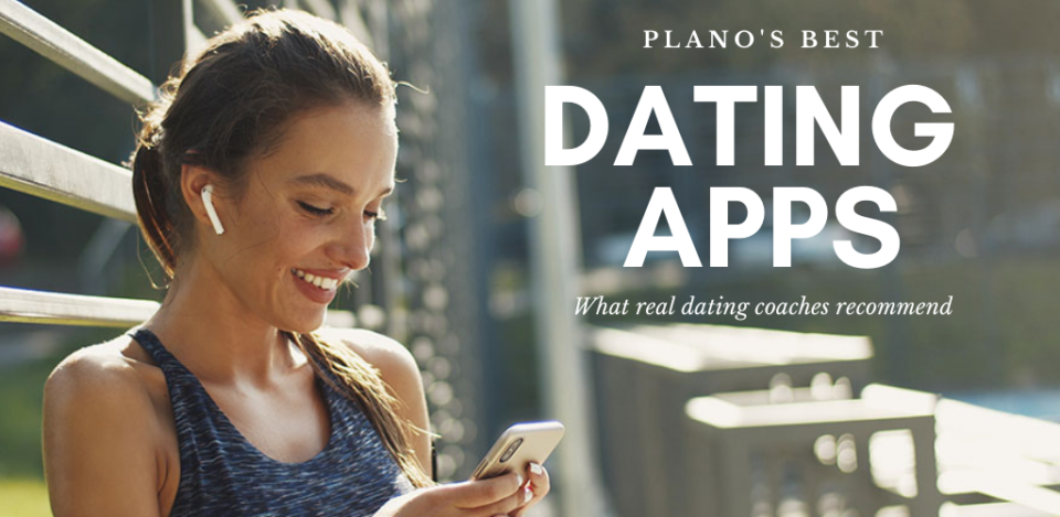 Woman trying out Plano dating apps and sites