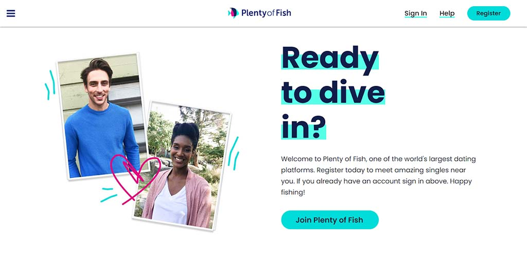 Plenty of Fish landing page