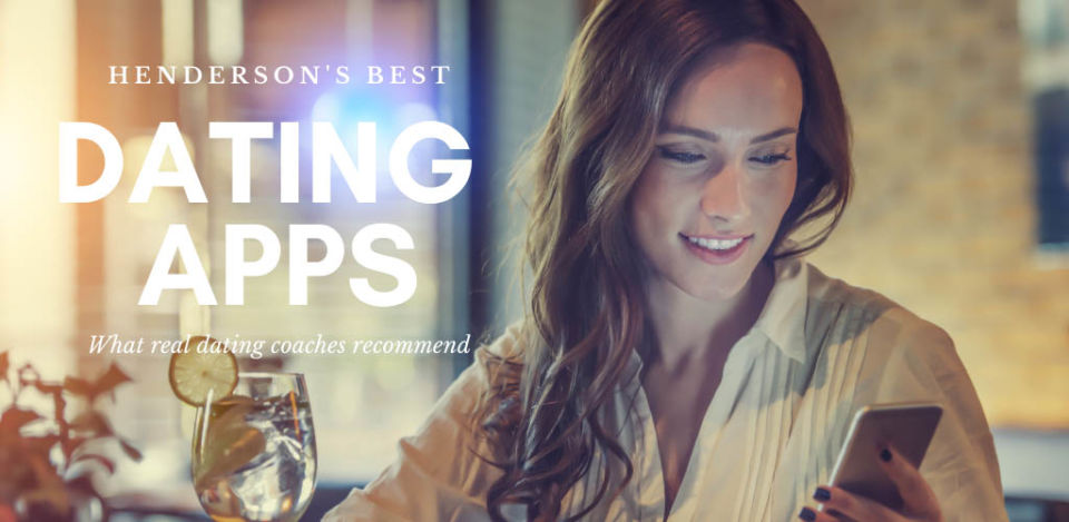 A beautiful woman testing out the best Henderson dating apps and sites