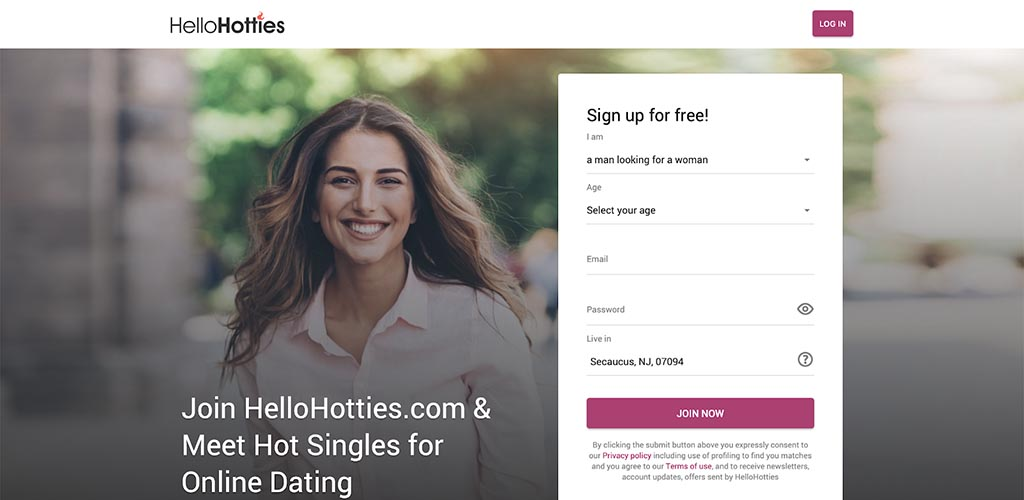 HelloHotties review landing page