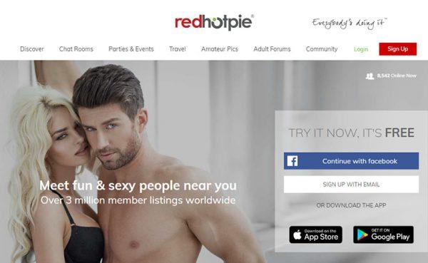 RedHotPie landing page