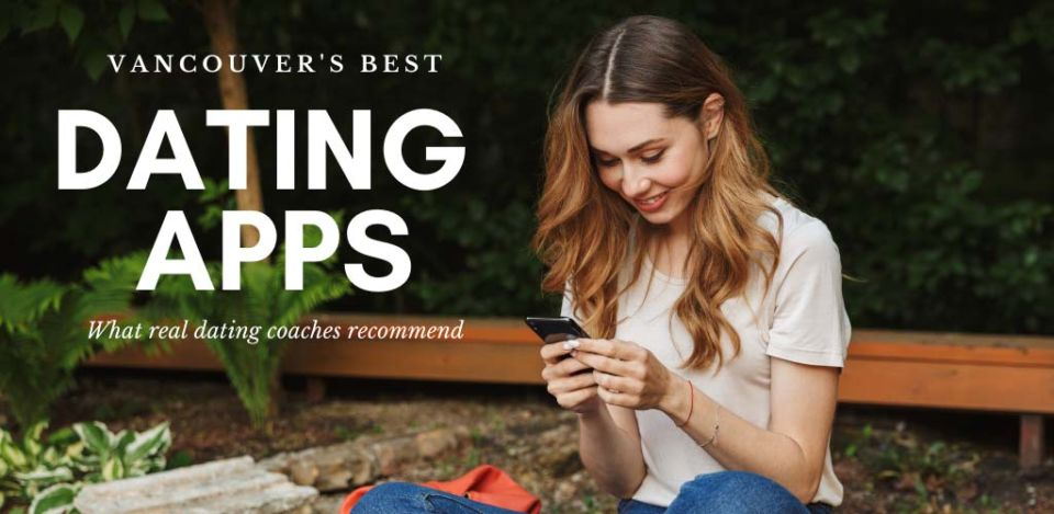 Beautiful woman at a park using some of the best dating apps and sites in Vancouver