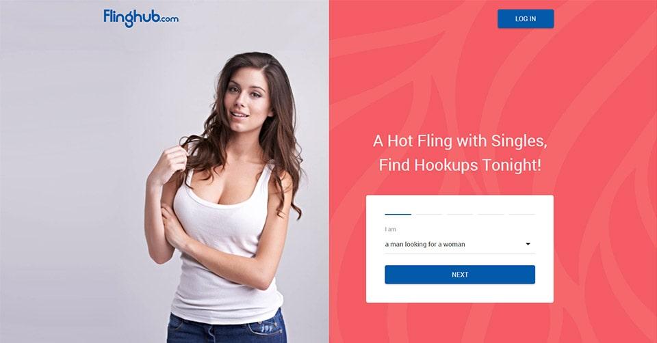 FlingHub landing page