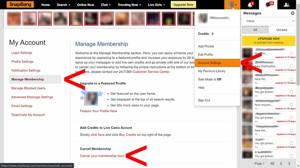 How to cancel your membership 1