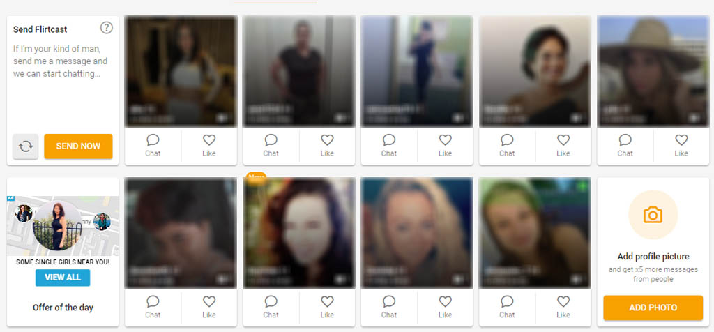 Lots of profiles to message