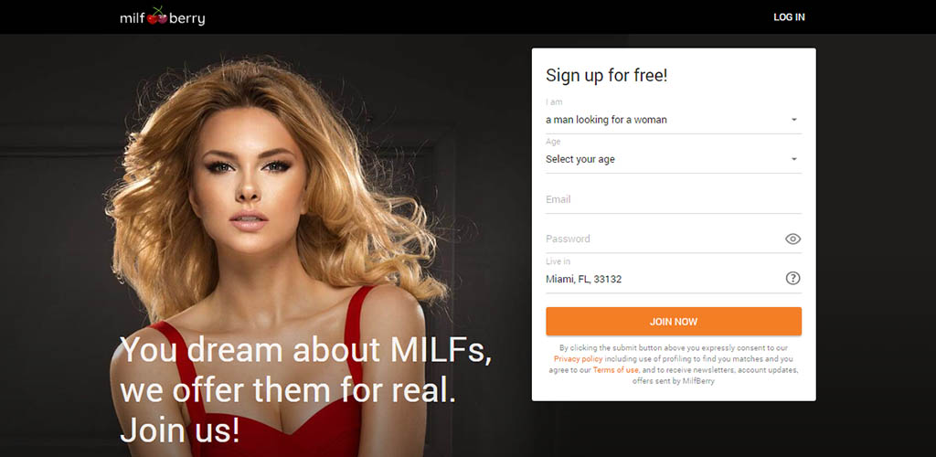 MILFBerry landing page