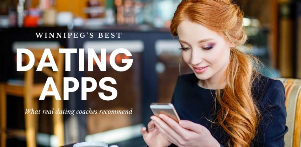 Pretty girl in a restaurant using some of the best dating apps and sites in Winnipeg