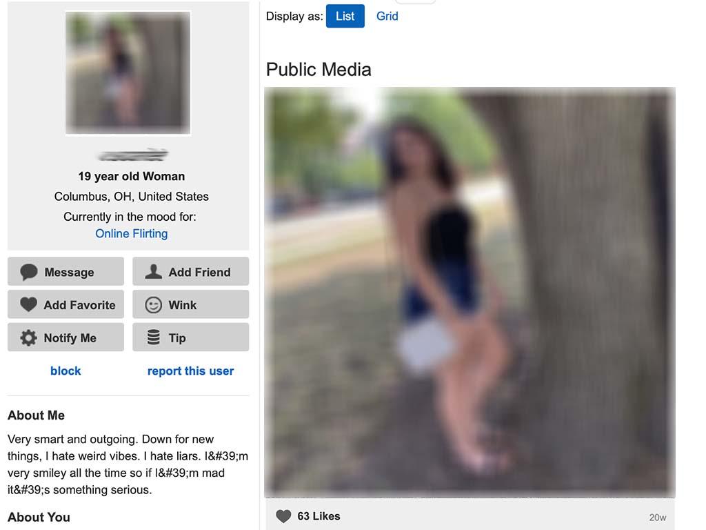 Sample profile that looks fake