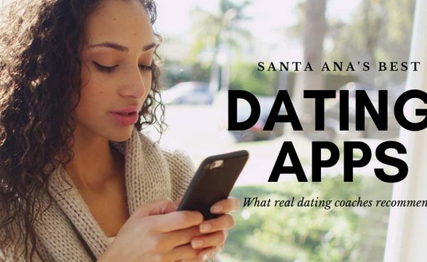 Sexy woman at home trying out some of the best dating apps and sites in Santa Ana