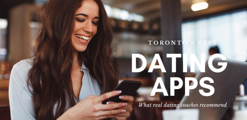 Woman trying out the best dating apps and sites in Toronto