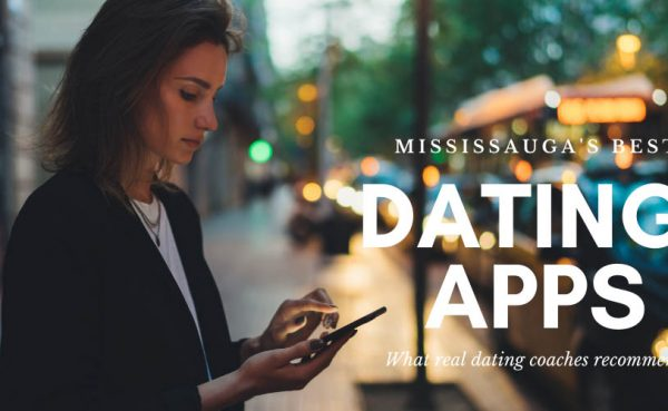 Woman swiping on one of the best dating apps and sites in Mississauga