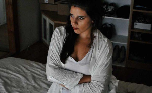 A grump woman