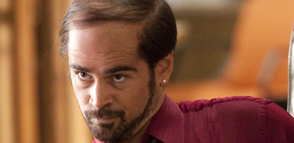 Colin Farrell with a combover hairstyle
